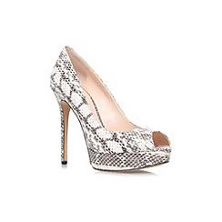 Vince Camuto - Black/White 'Lorim' high Heeled peep toe shoe