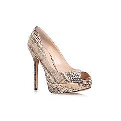 Vince Camuto - Beige Comb 'Lorim' high Heeled peep toe shoe
