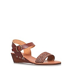 Carvela Comfort - Tan 'Saskia' low wedge heel sandal