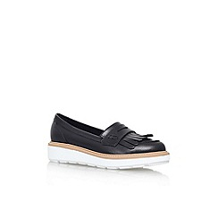Carvela - Black 'Legend' flat platform slip on loafer