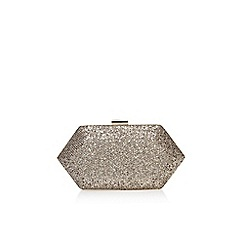 Miss KG - Gold 'Jewel' clutch bag with chain