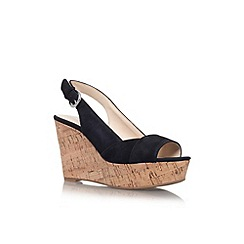 Nine West - Black 'Caballo' high wedge heel shoe