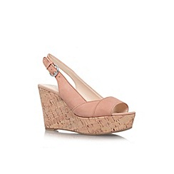 Nine West - Nude 'Caballo' high wedge heel shoe