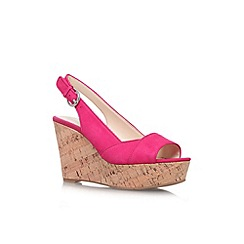 Nine West - Pale pink 'Caballo' high wedge heel shoe