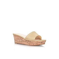 Nine West - Gold 'Confetty3' low wedge heel sandal