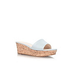 Nine West - Silver 'Confetty3' low wedge heel sandal