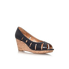 Nine West - Black 'Jumbalia' low wedge heel shoe