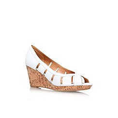 Nine West - White 'Jumbalia' low wedge heel shoe
