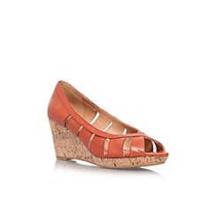 Nine West - Rust 'Jumbalia' low wedge heel shoe