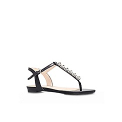 Nine West - Black 'Oberlander' flat strappy sandal