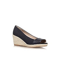 Nine West - Black 'Robi' mid wedge heel shoe