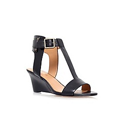 Nine West - Black 'Rileigh' low wedge heel sandal