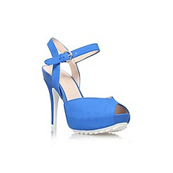 Nine West - Blue 'Ratical' high heel peep toe court shoe