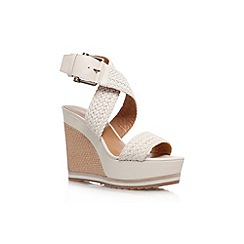 Nine West - White 'Waldrid2' high wedge heel sandal