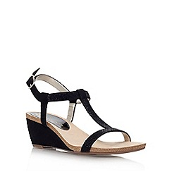 Anne Klein - Black 'Jovial 2' low wedge heel sandal