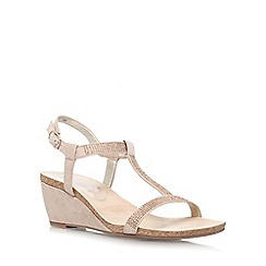 Anne Klein - Taupe 'Jovial 2' low wedge heel sandal
