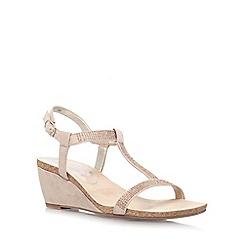 Anne Klein - Taupe 'Jovial 2' low wedge heel sandal