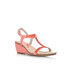 Anne Klein - Peach 'Jovial 2' low wedge heel sandal