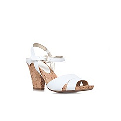 Anne Klein - White 'Boycot'  Wedge Sandal