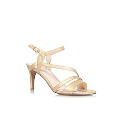 Nine West - Gold 'Jarring2' high heeled sandal
