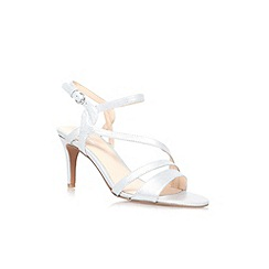 Nine West - Silver 'Jarring2' mid heeled sandal