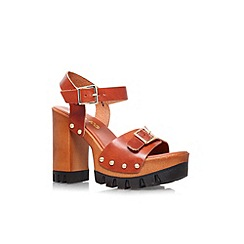 Miss KG - Tan 'Polly' high block heel platform sandal