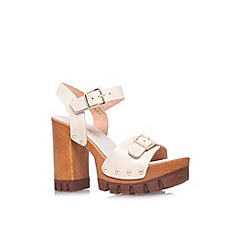 Miss KG - Beige 'Polly' high block heel platform sandal