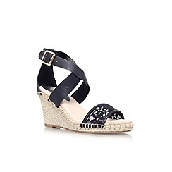 KG Kurt Geiger - Black 'Marina' mid wedge heel sandal