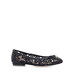 KG Kurt Geiger - Black 'Latin' flat slip on ballerina pump