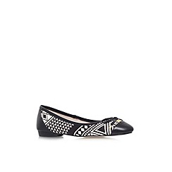 KG Kurt Geiger - Black/white 'Latin' flat slip on ballerina pump