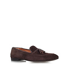 KG Kurt Geiger - Brown 'Landon' flat slip on loafer