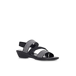 Carvela Comfort - Black 'Santorini' low wedge heel sandal