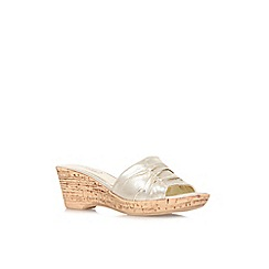 Carvela Comfort - Gold 'Scamp' mid wedge heel sandals