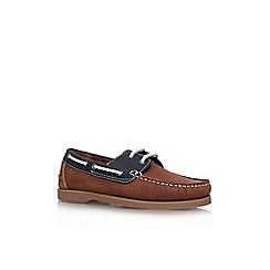 KG Kurt Geiger - Brown 'Ian' lace up boat shoe