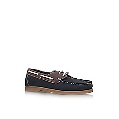 KG Kurt Geiger - Blue 'Ian' lace up boat shoe