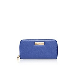Carvela - Mid blue 'Alis' zip around purse