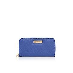 Carvela - Mid blue 'Alis' zip around purse