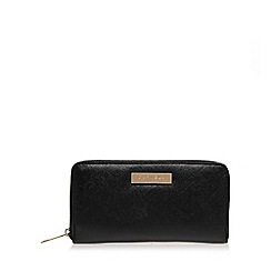 Carvela - Black 'Alis' zip around wallet