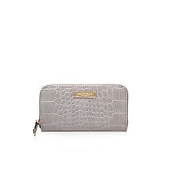 Carvela - Grey 'alis' zip around wallet large purse with zip fastening
