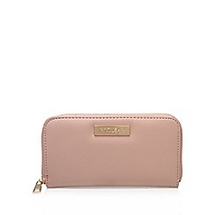 Carvela - Pink 'alis' zip around wallet large purse with zip fastening