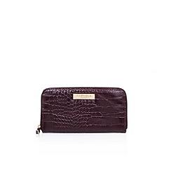 Carvela - Red 'Alis Zip Around' zip fastening wallet
