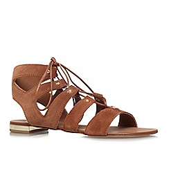 Carvela - Rust 'Kim' flat strappy lace up sandal