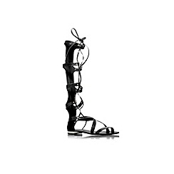 Carvela - Black 'Kiki' flat knee high strappy sandal