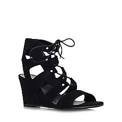 Carvela - Black 'Khristie' mid wedge heel strappy shoe boot