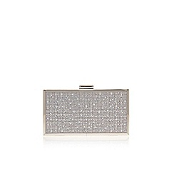 Carvela - Silver 'Grint' clutch bag