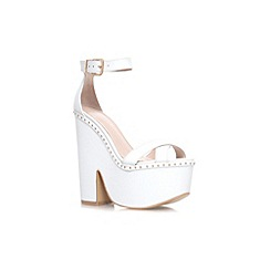 Carvela - White 'Glory' high heel platform sandal