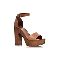 Carvela - Tan 'Kara' high heeled platform sandals