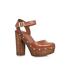 Carvela - Tan 'Karen' high heeled platform sandals