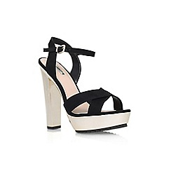 Carvela - Black 'Gone' high heel platform sandals