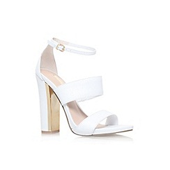 Carvela - White 'Gossip' high heel strappy sandal